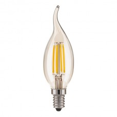 Светодиодная лампа свеча на ветру BL130 7W 4200K E14 CW35 прозрачный
