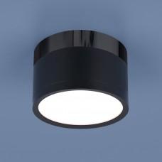 Накладной точечный светильник  DLR029 10W 4200K черный матовый/черный хром