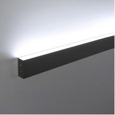 Линейный светодиодный накладной односторонний светильник 53см, 9Вт , черная шагрень LS-02-1-53-9-MSh