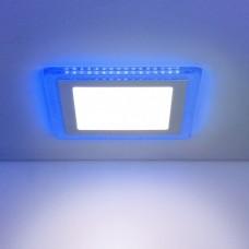 Встраиваемый потолочный светодиодный светильник Elektrostandard DLS024 18W 4200K Blue