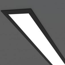 Линейный светодиодный встраиваемый светильник 103см 16Вт, черный матовый, LS-03-103-16-MB