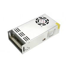 Блок питания  LC-N500W-12V/ 24V 20А с вентилятором тонкий (316х80х60 мм)