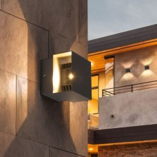 FOBOS графит уличный настенный светодиодный светильник 1607 TECHNO LED