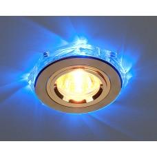 Точечный светильник светодиодный Elektrostandard 2020/2 GD/LED/BL (золото / синий)