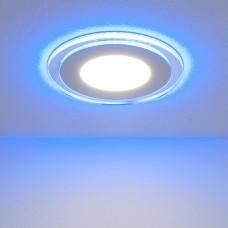 Встраиваемый потолочный светодиодный светильник Elektrostandard DLKR160 12W 4200K Blue