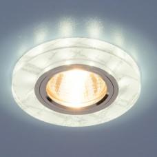 Точечный светильник светодиодный Elektrostandard 8371 MR16 WH/SL белый/серебро