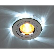 Точечный светильник со светодиодной подсветкой Elektrostandard 2060/2 SL/LED/WH (хром / белый)