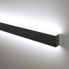 Линейный светодиодный накладной двусторонний светильник 53см 18Вт, черная шагрень LS-02-2-53-18-MSh